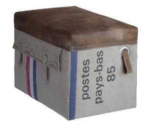 unieke handgemaakte poef oude postzak lederlook