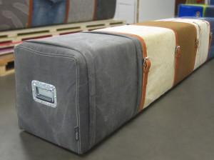 5-persoonsbank jeans-canvas-oude postzak
