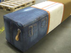 5-persoonsbank oude postzak-canvas-jeans