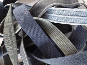 detailfoto hergebruikte canvas riemen