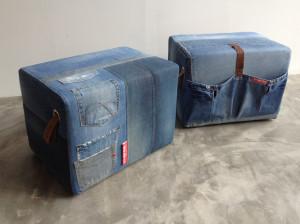 unieke set van jeanspoefen vivante