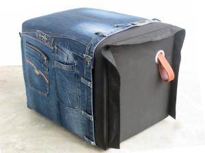 zitiz poef uniek handgemaakt jeans en zitzak gerecycled