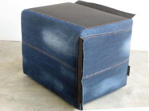 zitizpoef uniek handgemaakt vintage jeans en zitzak