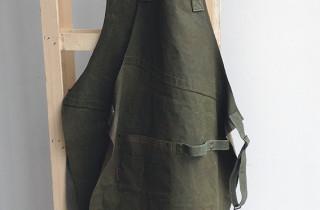 schort-gewaxed legertentstof-.met orginele legerriempjes